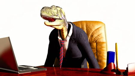 abstract scene of the chief of the dinosaur Stock Photo - 7201189