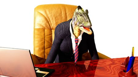 abstract scene of the chief of the dinosaur Stock Photo