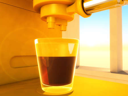 coffeemaker: scene of the coffee-maker executed in 3D