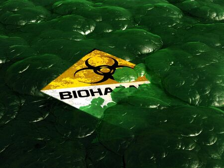 abstract scene of the sign biohazard photo