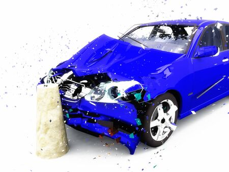 consequence: scene to damages of the car Stock Photo