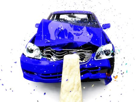 damaged: scene to damages of the car Stock Photo