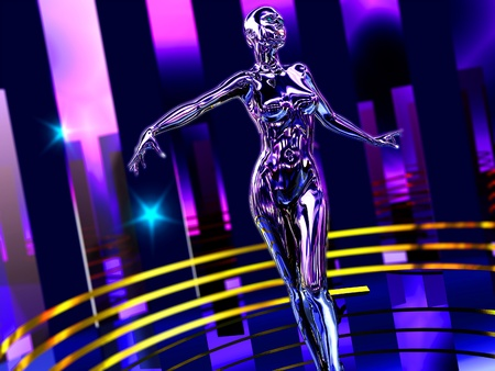 The abstract image Dance robot