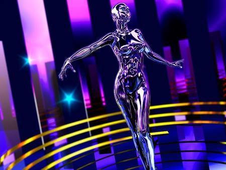 cyborg: The abstract image Dance robot