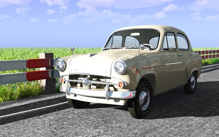 russian car: The image of the ancient Russian car