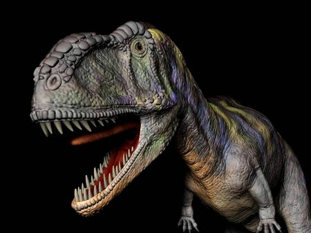 scene the dinosaur Executed in 3D Stock Photo