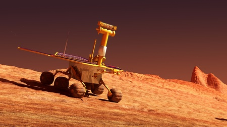 The Mars rover image on Mars photo