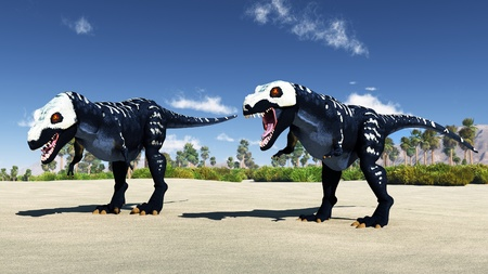 predatory: The image of a predatory dinosaur