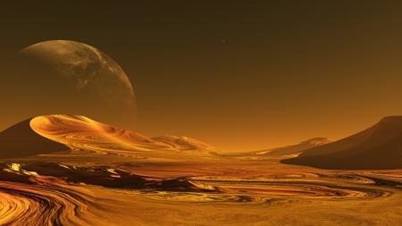 Het beeld van de buitenaardse planeet Stockfoto