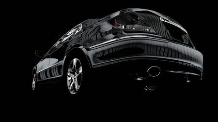 shiny car: The contrast image of the car executed in 3D