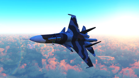 The Russian warplane Stock Photo