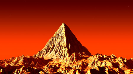 creativeness: Pyramid on Mars Stock Photo