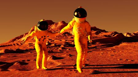 walking on hands: Follow me to Mars