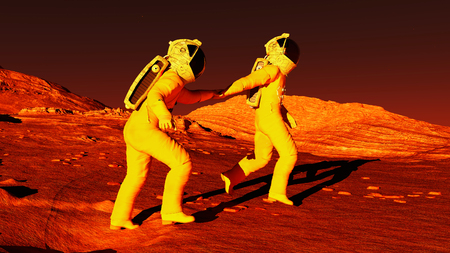 dry land: Follow me to Mars