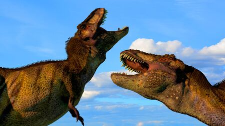 The image of two dinosaurs