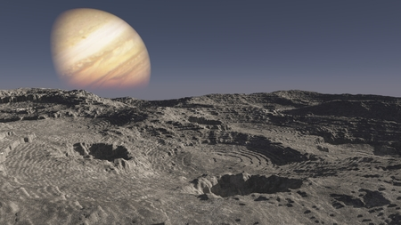 The image of alien planet 3D illustration Stock fotó
