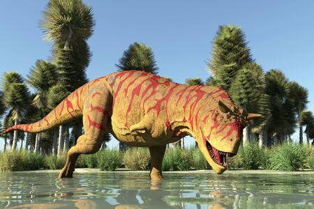 The image of a predatory dinosaur