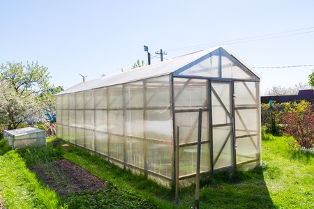 polycarbonate: Greenhouse made of polycarbonate Stock Photo