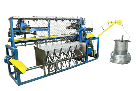 Machine for the manufacture of mesh netting.