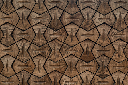 Wooden panel is handmade. Beautiful wall decoration. Banque d'images - 125517158