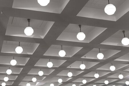 Beautiful ceiling in the Banquet hall. Contemporary interior design. Background. Banque d'images - 130710885