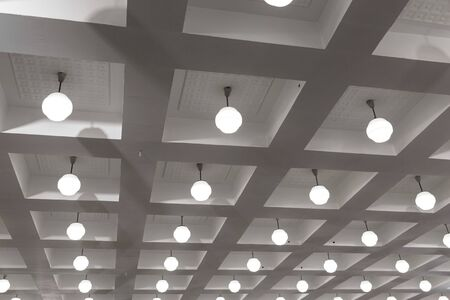 Beautiful ceiling in the Banquet hall. Contemporary interior design. Background. Stockfoto