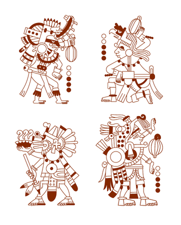vector illustration sketch drawing aztec cacao bean, leaves, nibs, pattern
