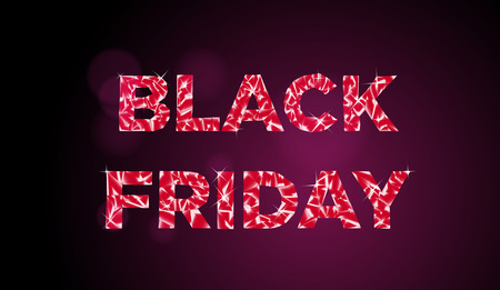 vector illustration black friday advertisement poster with text gem texture on dark backdrop