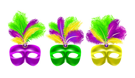harlequin clown in disguise: Mardi Gras festival poster with carnival mask