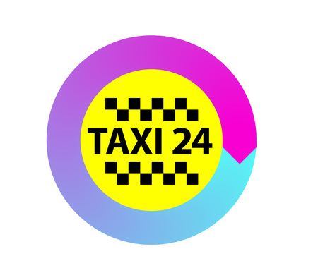 Vector illustration logo for taxi.