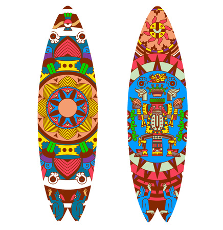 Vector illustration surfboard design collection. Illustration