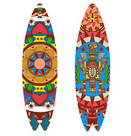 Collezione di design tavola da surf illustrazione vettoriale.