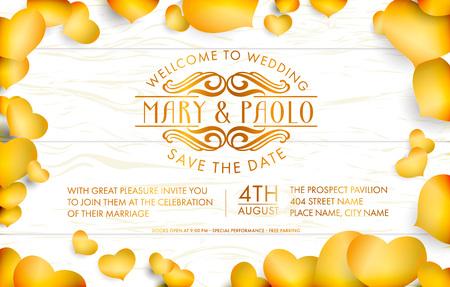 Wedding holiday poster.