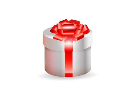 Vector illustration holiday present box icon design on white background. Illustration