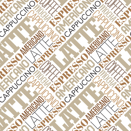 Vector illustration coffee seamless pattern.