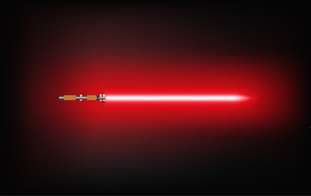 Light saber sword fight.