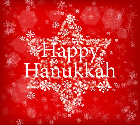 Vector illustration Hanukkah holiday poster. Vectores