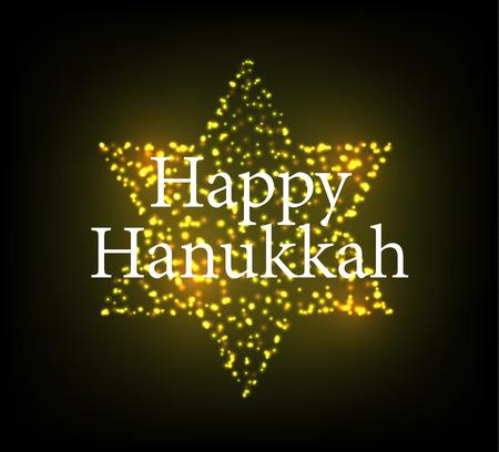 Vector illustration Hanukkah holiday poster. Illustration