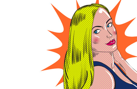 Girl character in comic book style. Vector illustration. Ilustração