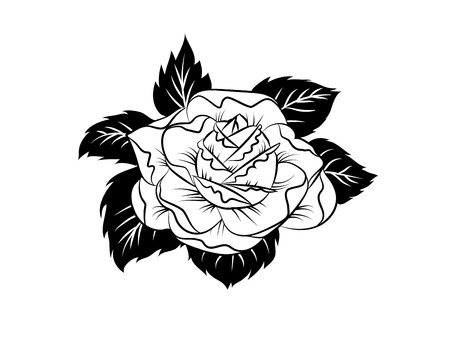 Tattoo sketch design in vintage style. Vector illustration.