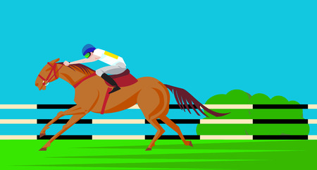 Horse Ride Competition Poster Design Vector Illustration