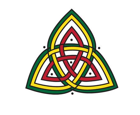 Celtic knot pattern design. Vector illustration.