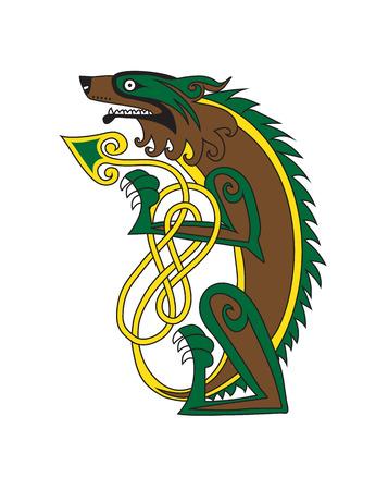 Celtic style tattoo sketch design. Vector illustration. Illustration