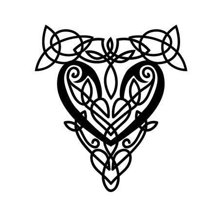 Un diseño de patrón de estilo celta. Ilustración vectorial