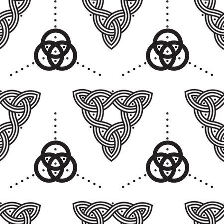 Celtic tribal pattern design. Vector illustration.