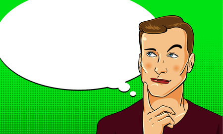 Male character in comic book style. Vector  illustration. Illustration