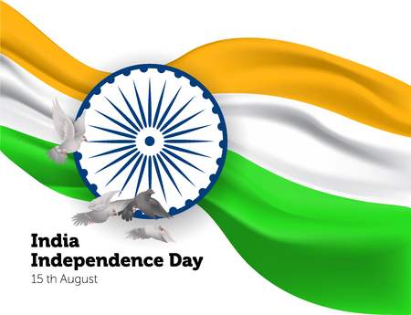 Poster for Independence day of India Respublic. Vector illustration.