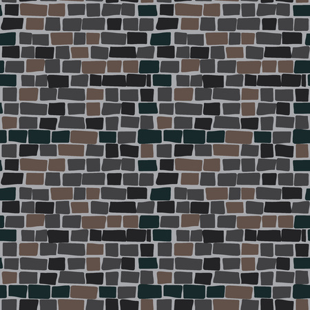 Stone wall texture seamless pattern. Vector illustration.