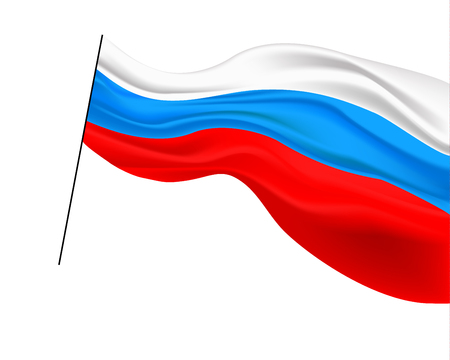 Russian flag. Vector illustration.