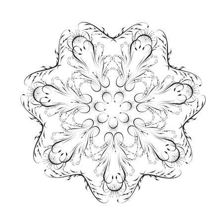 Floral pattern frame for a wedding invitation design. Vector illustration.
